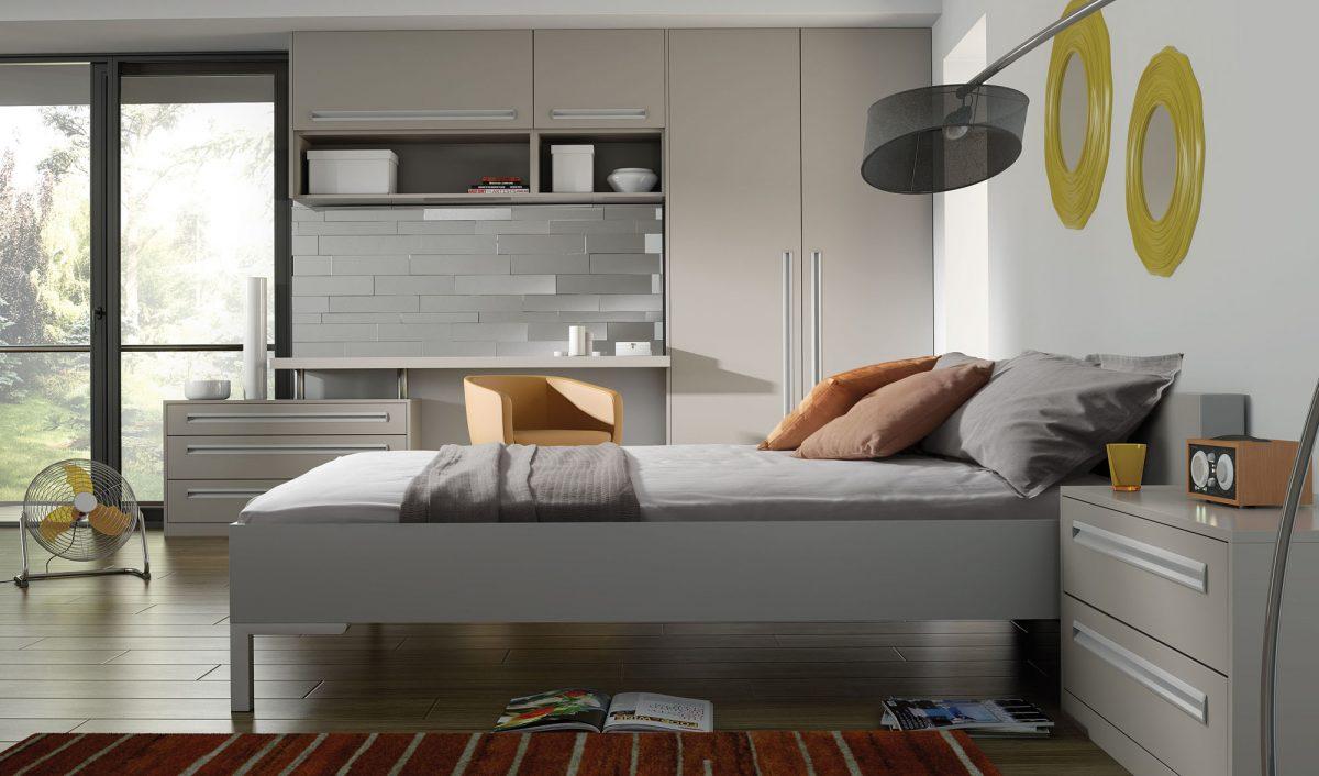 Bella by BA - Inset Matt Dove Grey Bedroom doors