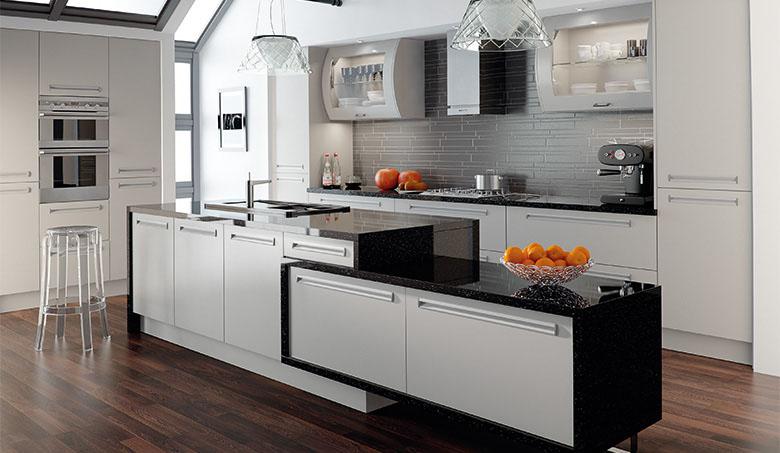 Bella by BA - Inset Matt Dove Grey Kitchen cupboard doors