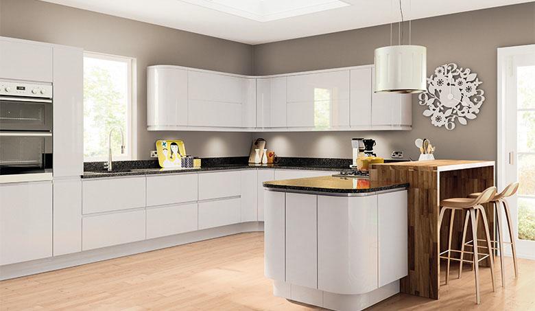 grey gloss kitchen update