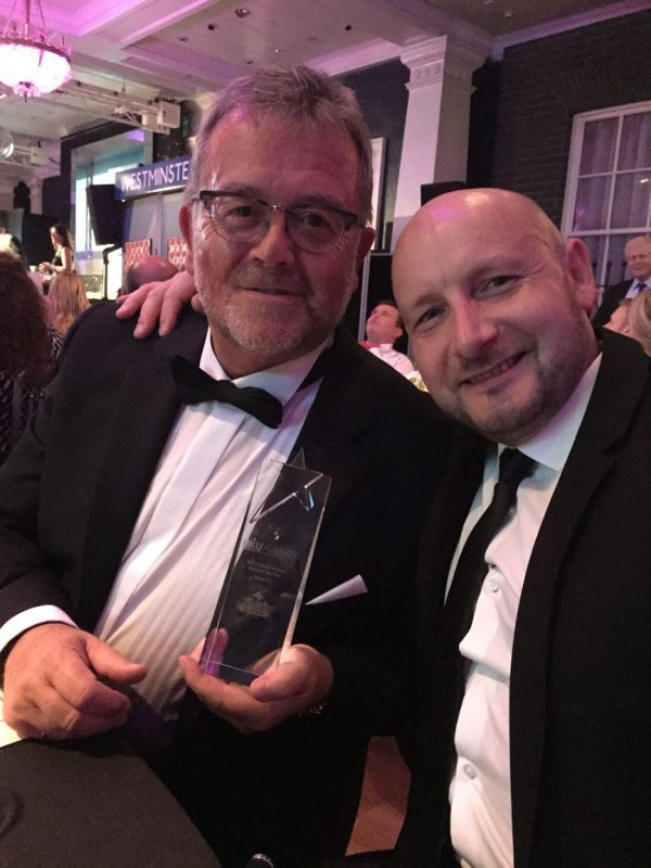 David and Jon - BA Components win Best Overall Kitchen Brand at BKU Awards