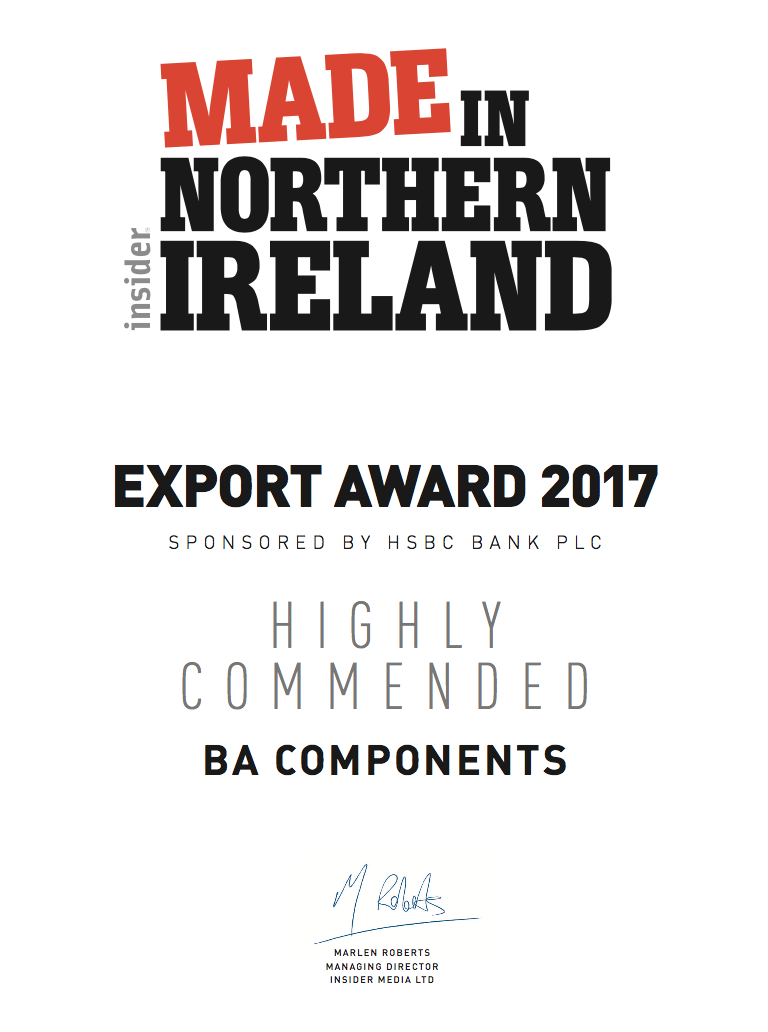 Highly Commended at Made in Northern Ireland Awards