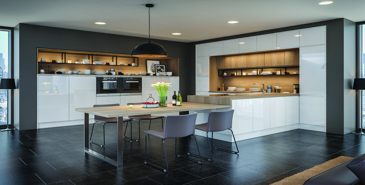 Jayline White Gloss Kitchen