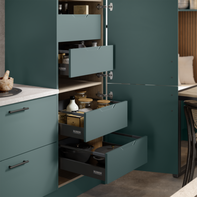 Integra style internal drawers matching the frontal colour